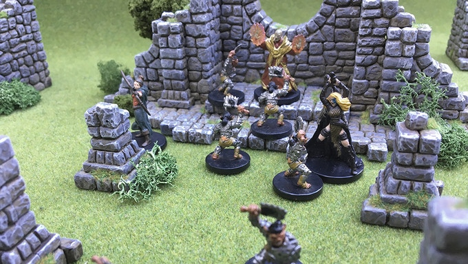 The party takes on a goblin troop in the Abandoned Church