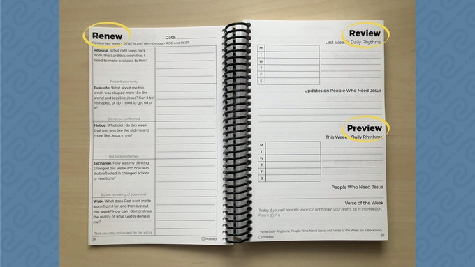 Every Sunday you RENEW, Review, and Preview