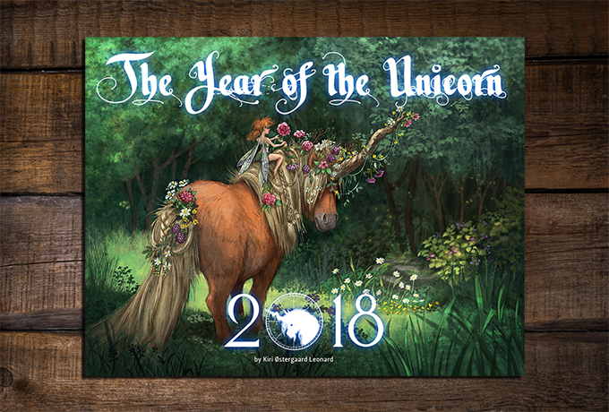 Only for magical souls! A year full of Unicorns; surely 2018 will be the most wondrous year of all. Missed the Kickstarter? Buy the calendar here!