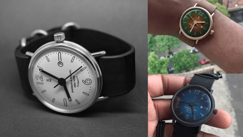 EMERSON AND MICHAEL NEW YORK. A THIN SWISS AUTOMATIC WATCH. project video thumbnail