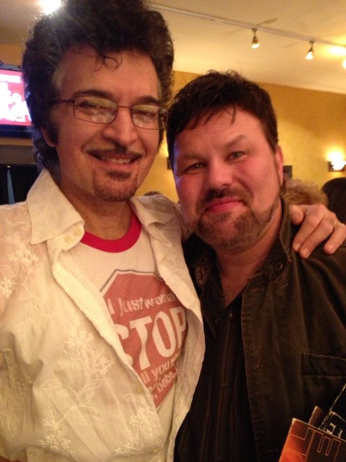 Me and Gino post-show in Atlanta in January of 2013. An extraordinary evening for me because I was instrumental in acquiring the venue for Gino. It was his first Atlanta appearance since 1995.