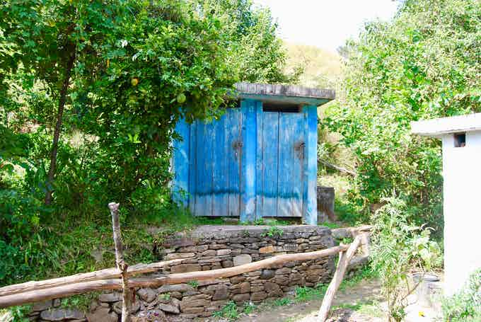 An Eco-Toilet built in Bhora Village