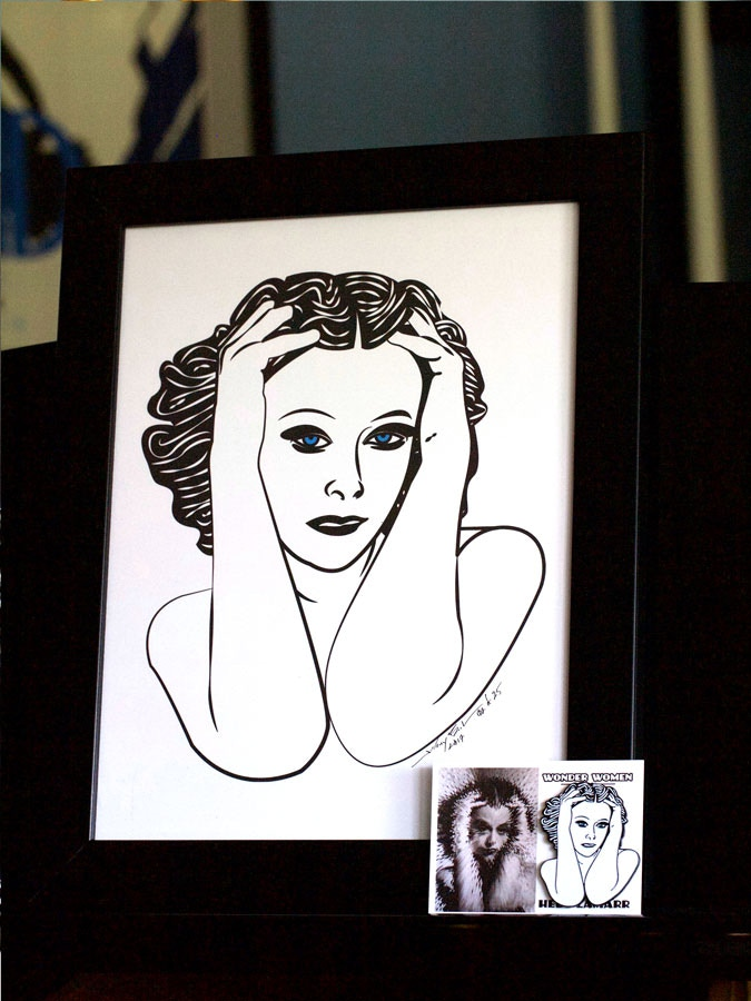 As an example: Hedy Lamarr Pin + Print.