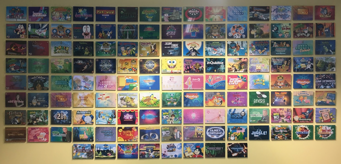 The Denki 'trophy wall' features an image from almost every published game we've made.