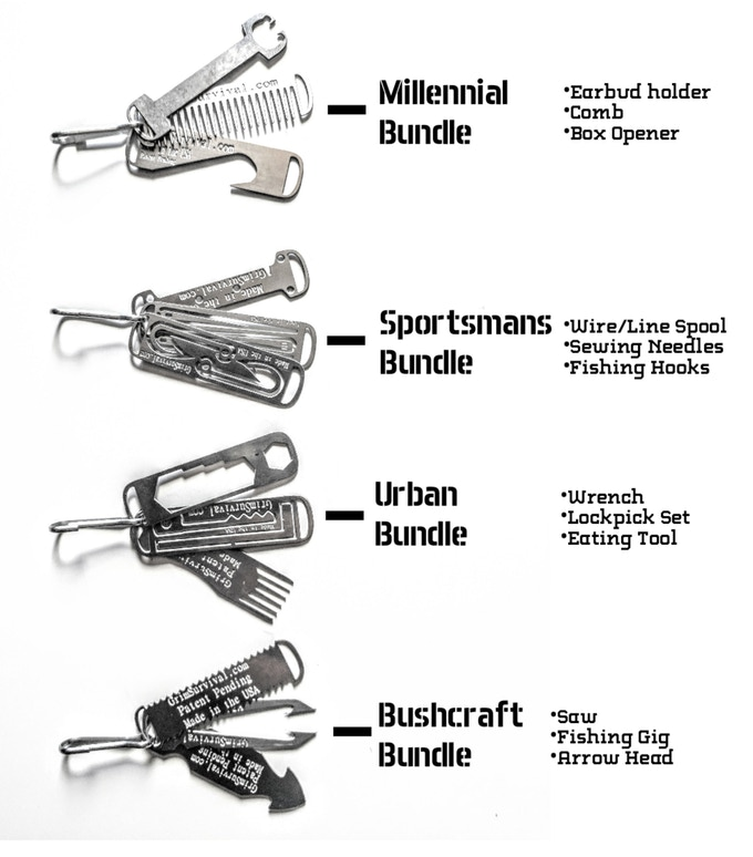 Grim Everyday Carry (EDC) Zipper Micro Tool System by Grim