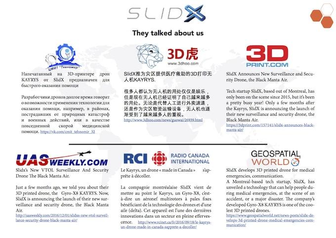 Worldwide article about SlidX