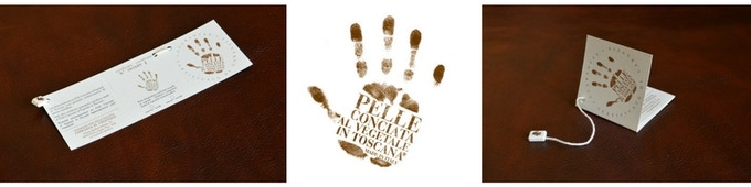 """Pelle Conciata Al Vegetale in Toscana"" Certificate and Logo"