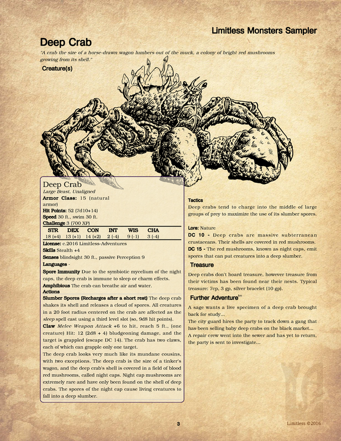 Sample Deep Crab Page
