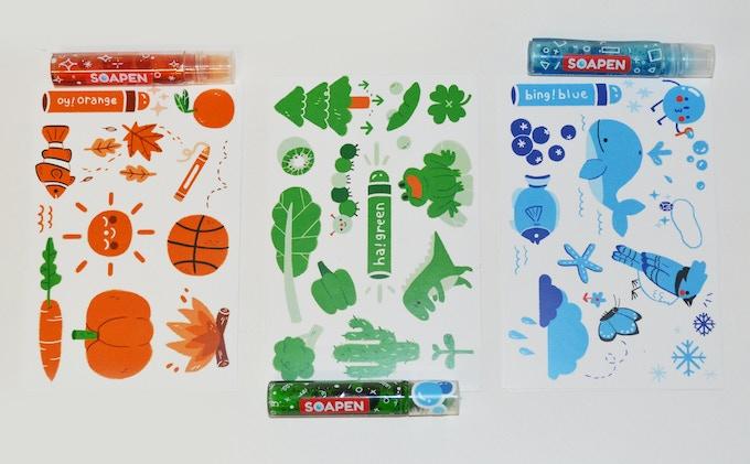 3 Custom SoaPen Postcards