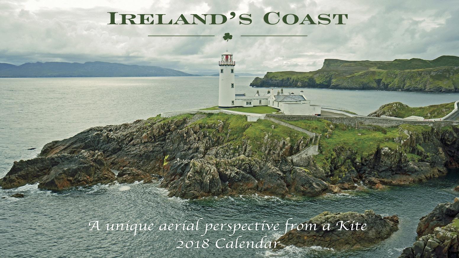 irelands coast from a kite calendar 2018
