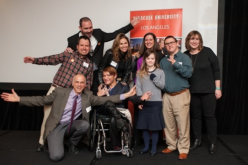 Dan Habib with Micah, Amy Brenneman, and others