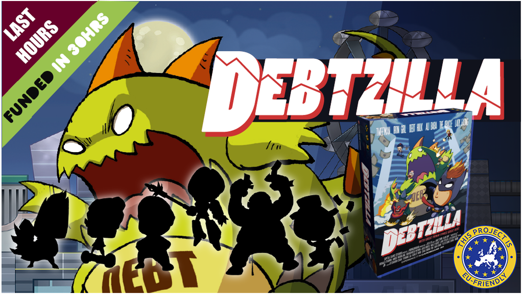 Debtzilla | Secret Identity Superhero Board Game project video thumbnail