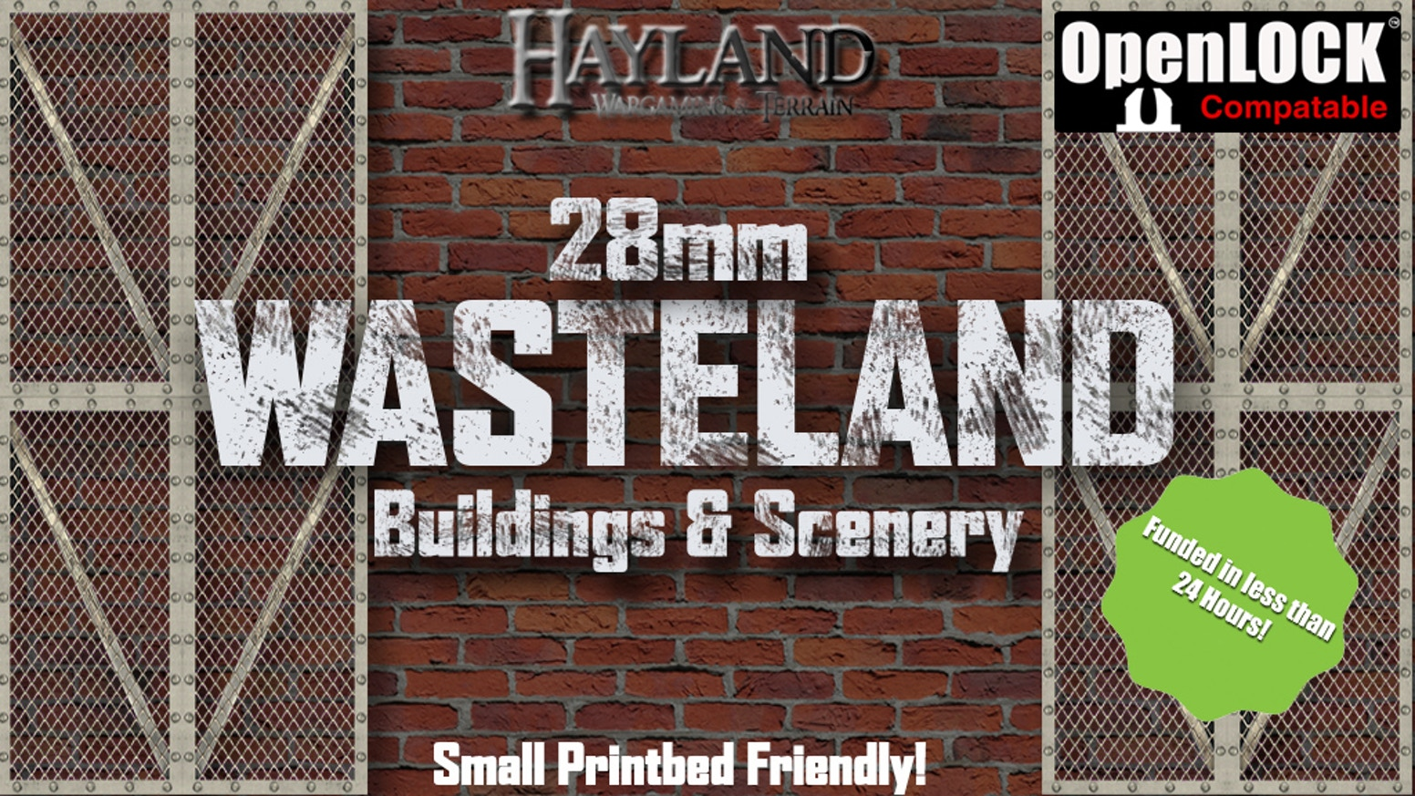 28mm Modular Wasteland Buildings & Scenery - OpenLOCK 