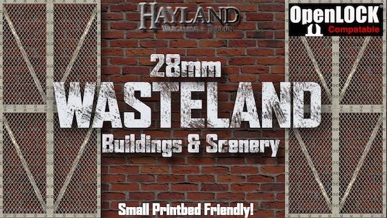 28mm Modular Wasteland Buildings & Scenery - STL - OpenLOCK