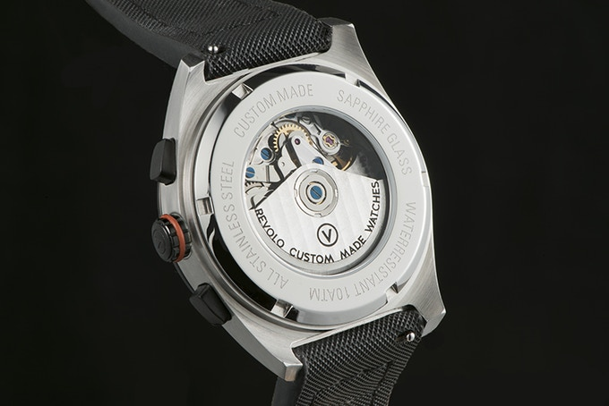 See through case back for the Concepto 7750 automatic movement