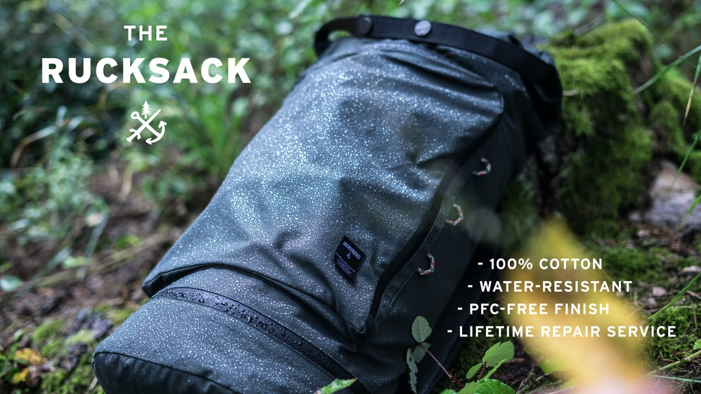 100% Sustainable Water-Resistant Cotton Backpack project video thumbnail