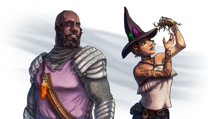 Vikram Eyes-of-Ember and Black-Hat Aggy are two such NPCs the party might encounter