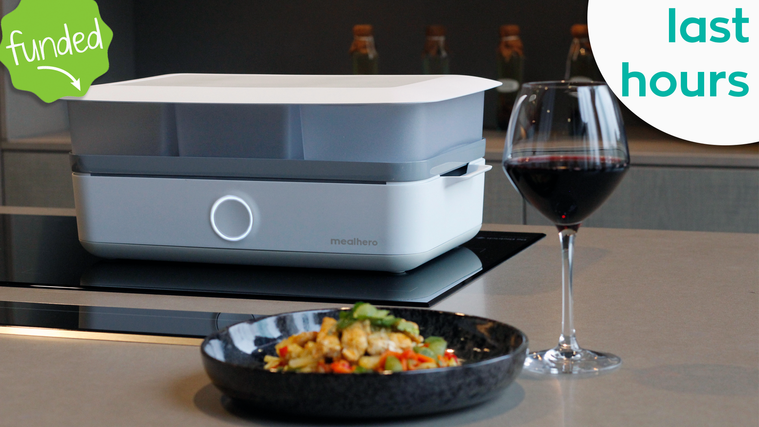 mealhero combines a smart steamer with home-delivered food boxes to prepare you a healthy and delicious meal with zero effort.