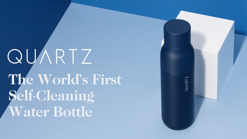 QUARTZ Bottle - Water Purification in a Self-Cleaning Bottle