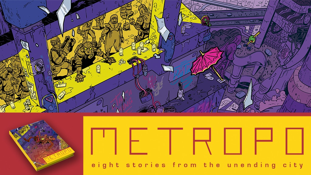 METROPO - a 'slice of cyberpunk life' short story collection project video thumbnail