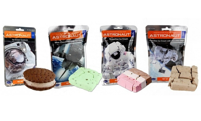 Yummy! Do you have a sweet tooth? Try an astronaut ice cream!
