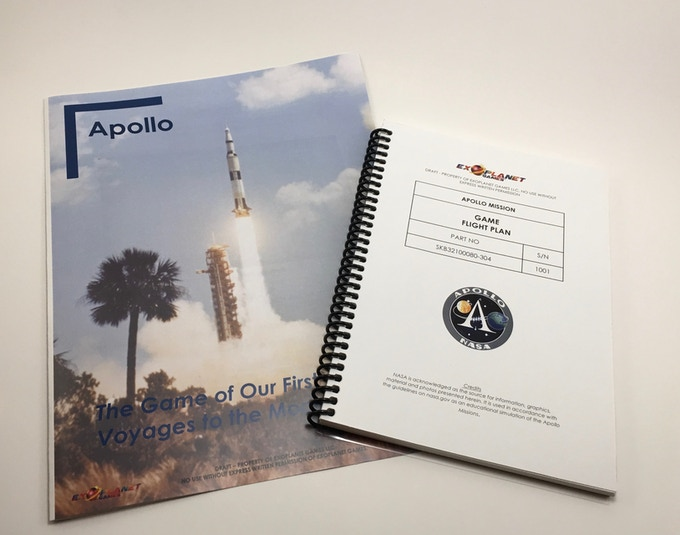 Apollo Game Manual (L) and Flight Plan (R)