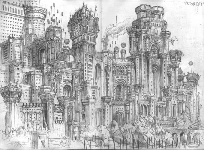 "A sketch of ""Gateway: Prison-City"""