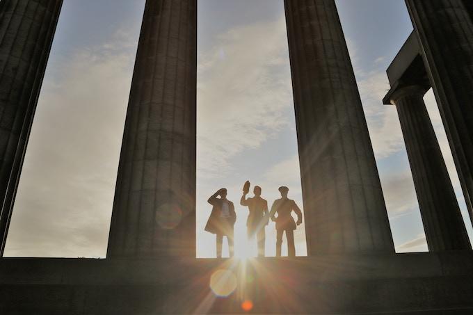 Will Burren (Robert Graves), Sid Phoenix (Siegfried Sassoon) and Matthew Staite (Wilfred Owen)
