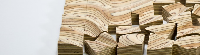 Layers of birch hardwood laminated with formaldehyde-free adhesive