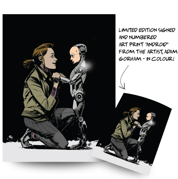 "Limited Edition signed print ""Android"" by Adam Gorham! Only 36 are available, so pledge today!"