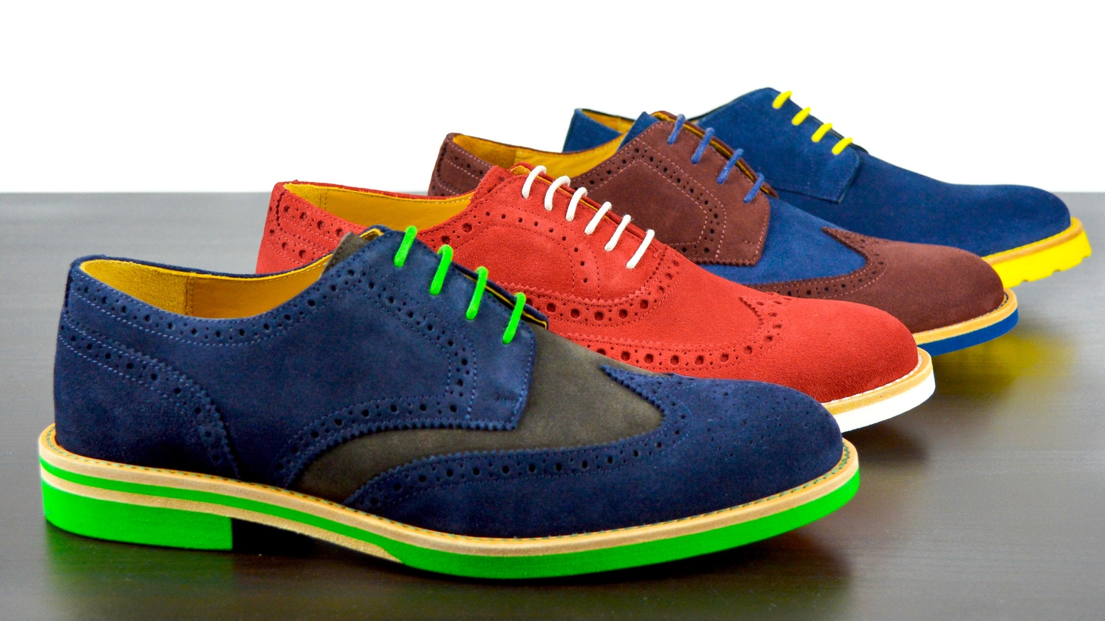 Express your personality and stand out from the crowd with classic dress shoes reimagined with bursts of color.