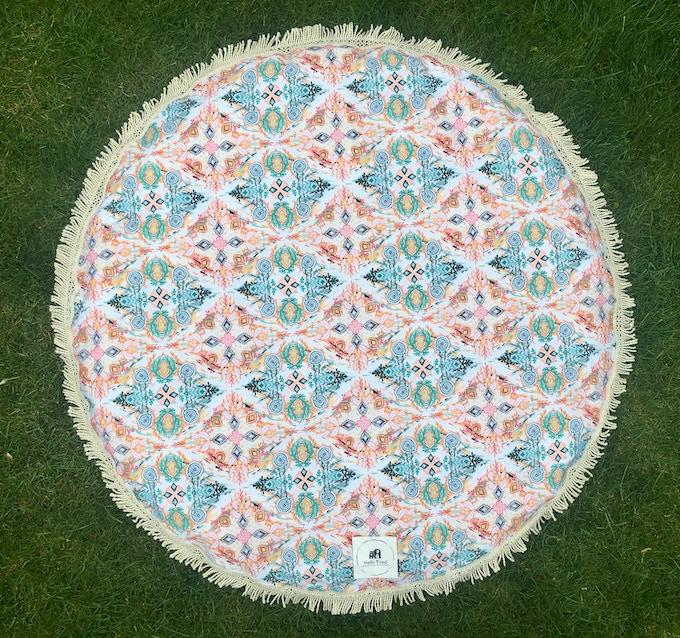"""105cm Round Playmat - """"Wonderland in Spring"""" design"""