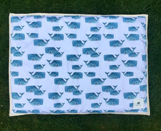 "Rectangle Playmat - ""Whale Pod"" Design"