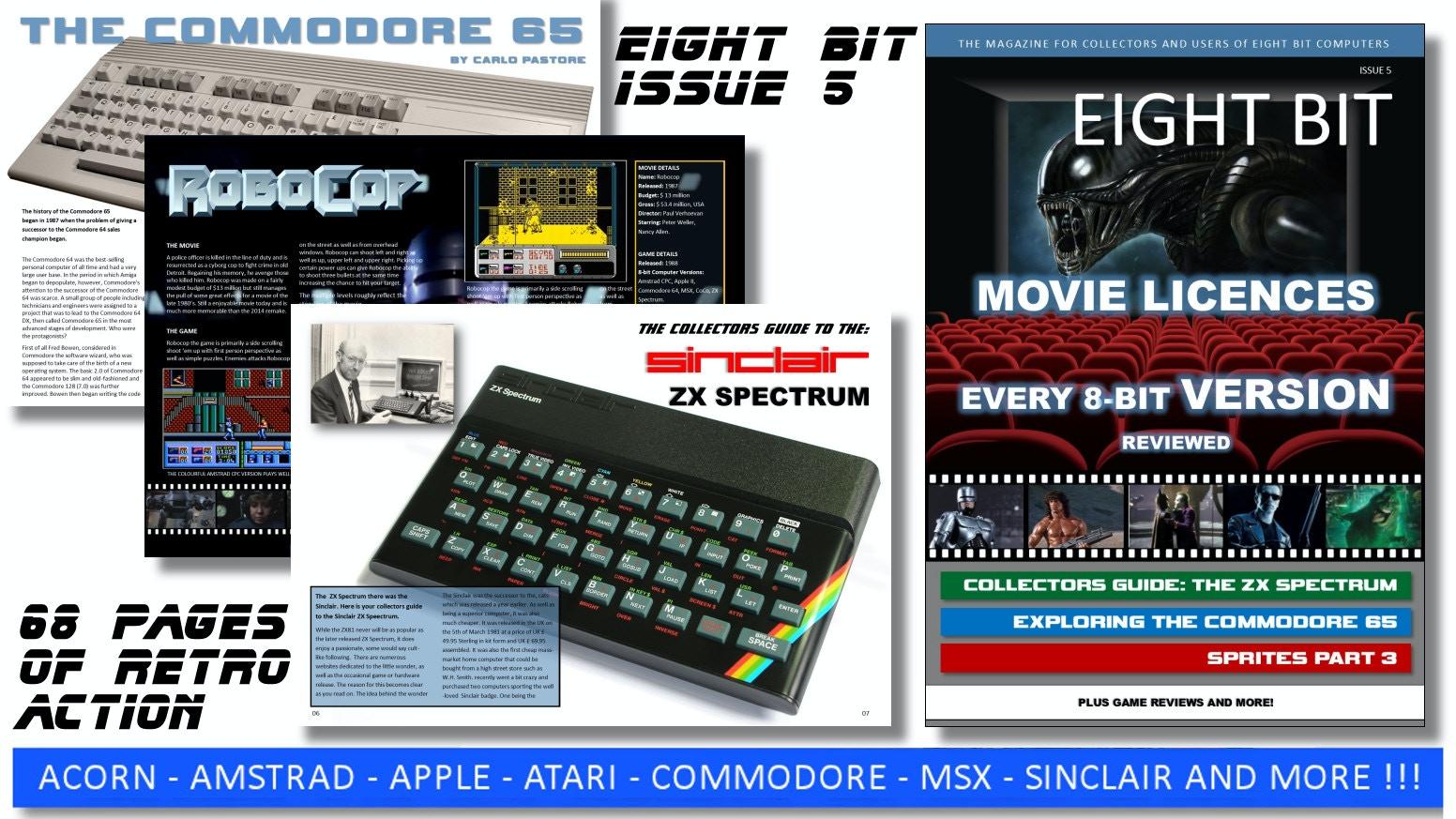Eight Bit Magazine 5 8 Amstrad Atari C64 Spectrum