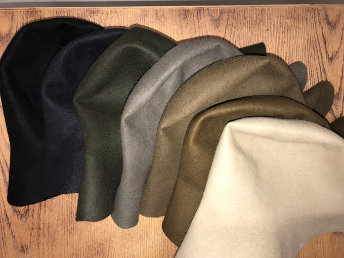 Campaign felt colors listed left to right: Black, midnight blue, dark  moss, grey, pecan, whiskey and sand