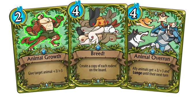 Using these cards in an all animal deck ensures every character receives a benefit