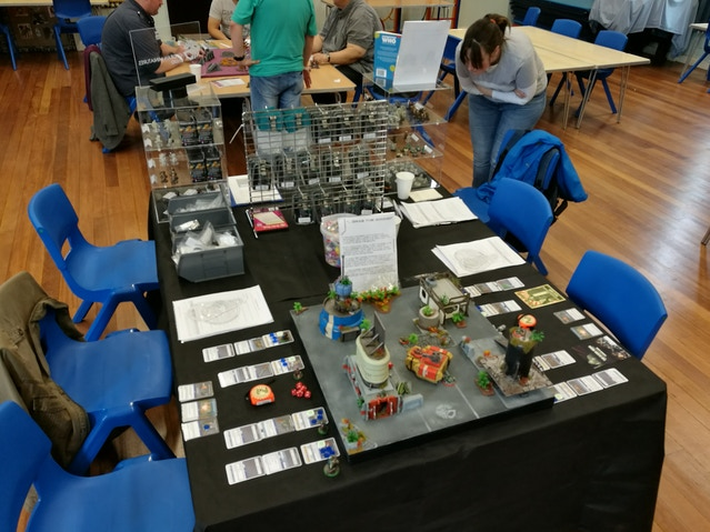 Our table at Blast-Tastic 2017.