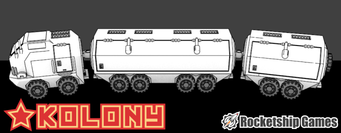 Bulkhauler Landtrain, a large vehicle used to ferry supplies between outposts.