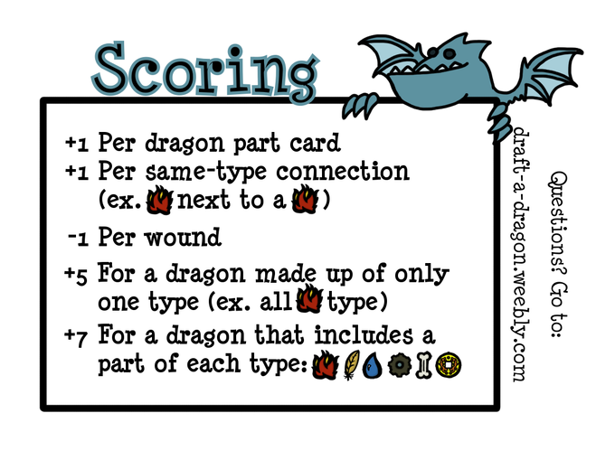 Scoring only takes place at the very end of the game.