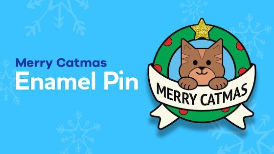 Merry Catmas Soft Enamel Pin
