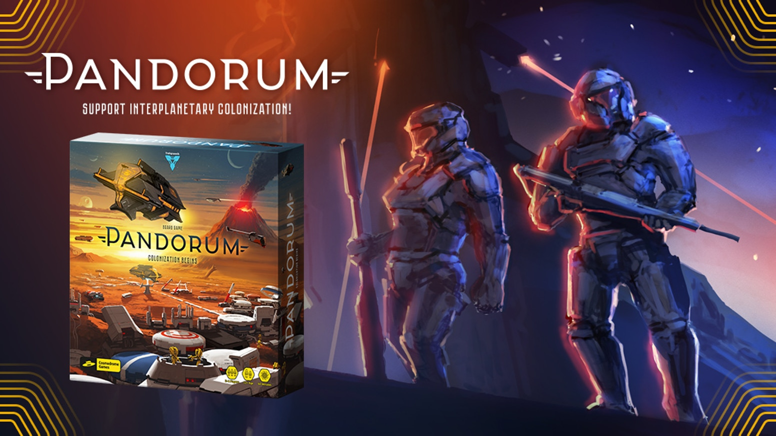 Pandorum is a cosmic strategic eurogame where you and your rivals colonize the lifeless but resource-rich planet;  for 1-4 players.