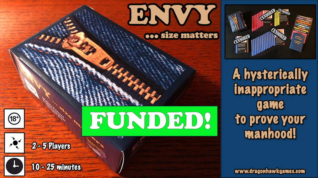 Envy ..... size matters The NSFW Adult Card Game project video thumbnail