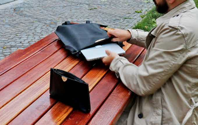 """L TOTE can fit documents and MacBook Pro 15"""""""