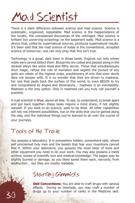 A Sample Page--The Mad Scientist