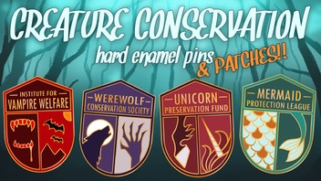 Creature Conservation Pins & Patches