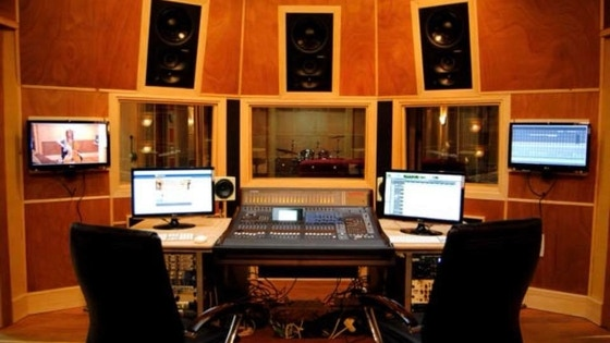 Estudio de grabación profesional de música