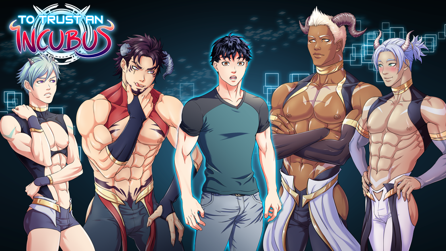 The temp worker Kenta is quarantined in a lab with Professor Raiden, his Lab Assistant Arata, and 4 SEXY Incubi from another dimension!