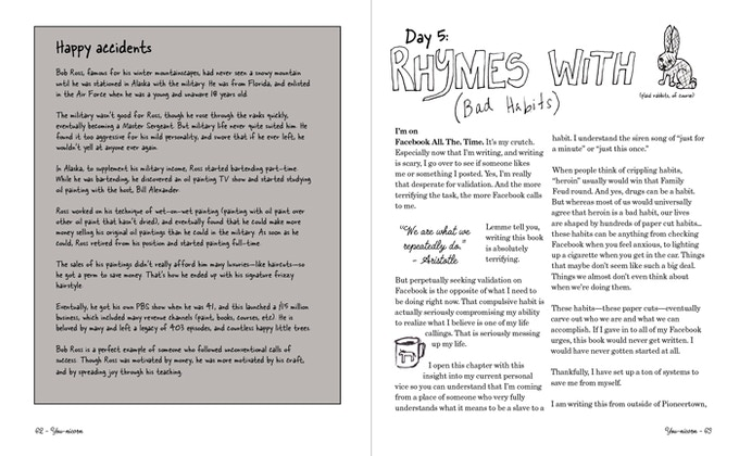 Here's a sample of the pages in the book