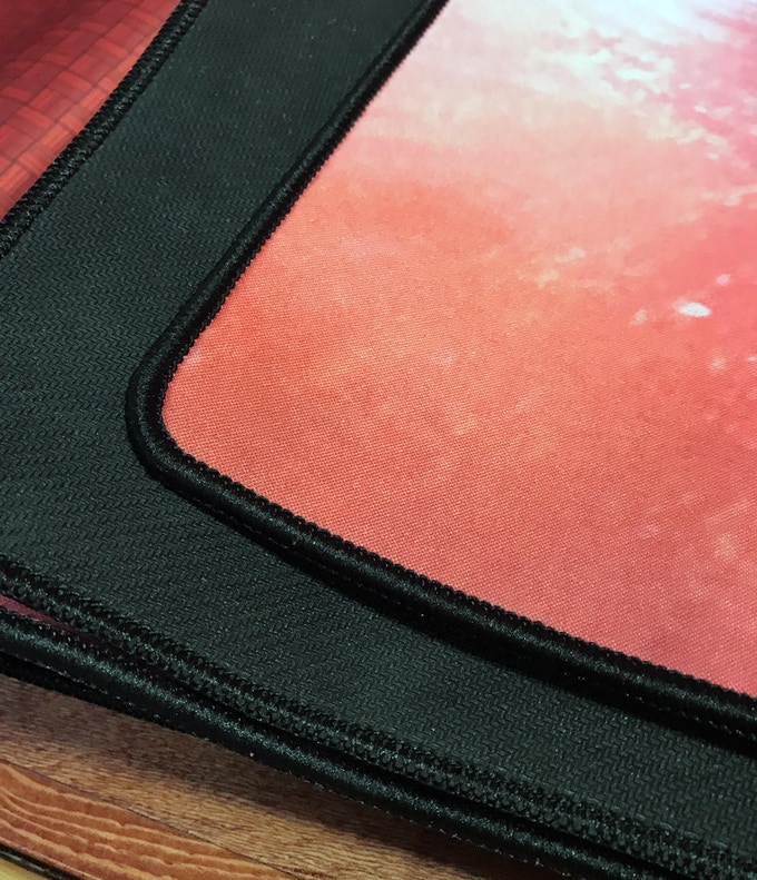 Close up of high quality edge stitching for long life durability.