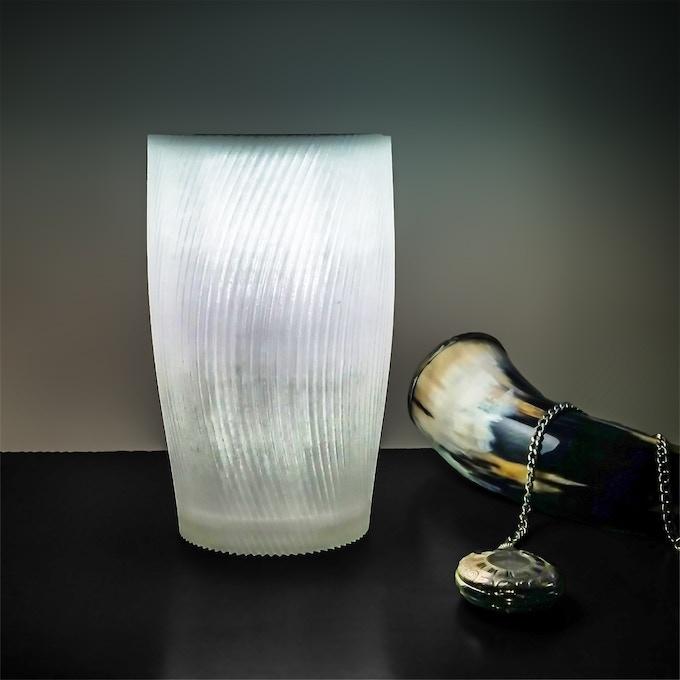 """The Twist, Small lamp, 5"""" wide x 4"""" deep x 8"""" tall"""